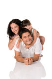 Happy real family Stock Photography
