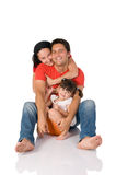 Happy real family embrace Royalty Free Stock Images