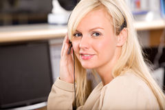 Happy Receptionist Royalty Free Stock Images