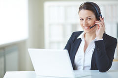 Happy receptionist Stock Photos