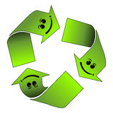Happy recycle logo Royalty Free Stock Images