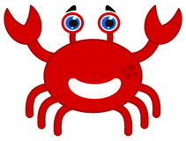 A happy red crab Royalty Free Stock Images