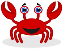 A happy red crab Stock Images