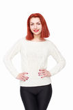 Happy red hair woman Royalty Free Stock Photos
