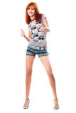Happy red-haired girl Royalty Free Stock Photo