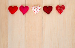 Happy red hearts with blank space for wedding and anniversary Royalty Free Stock Images