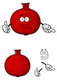 Happy red pomegranate fruit giving a thumbs up Stock Photo