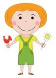 Happy redhair kid Royalty Free Stock Photos