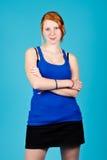 Happy redhead Royalty Free Stock Photos