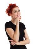 Happy redhead female royalty free stock photo