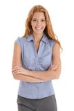 Happy redhead woman laughing Stock Photography