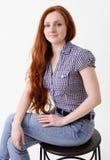 Happy redhead woman Stock Image