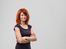 Happy redheaded girl Stock Images