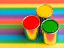 Happy reflections rainbow Stock Image