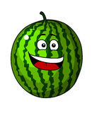 Happy refreshing green cartoon Royalty Free Stock Photo