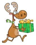 Happy reindeer bear gift Stock Image