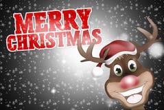 Happy Reindeer Merry Christmas Royalty Free Stock Photo