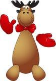 Happy Reindeer Puppet Stock Photos