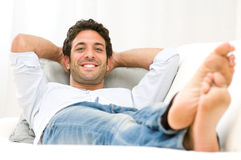 Happy relax Stock Image