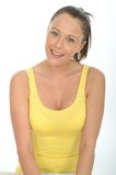 Happy Relaxed Confident Attractive Fit Young Woman Portrait Stock Image