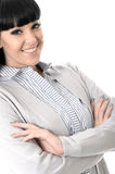 Happy Relaxed Content Woman With Arms Crossed Royalty Free Stock Photo