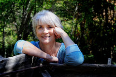 Happy Relaxed Lady royalty free stock photos