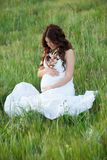 Happy and relaxed pregnant woman Royalty Free Stock Photos