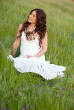 Happy and relaxed pregnant woman Royalty Free Stock Photography