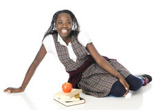 Happy Relaxed Schoolgirl Royalty Free Stock Photos