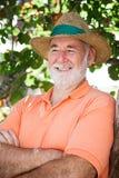 Happy Relaxed Senior Man Stock Photography