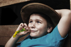 Happy relaxing little boy Royalty Free Stock Photo