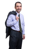 Happy relieved businessman Stock Photo