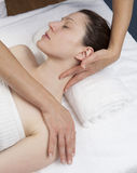 Happy relieving massage Royalty Free Stock Image