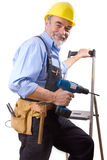 Happy repairman royalty free stock photos