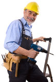 Happy repairman Stock Images