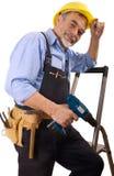 Happy repairman Stock Image