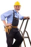 Happy repairman Stock Photos