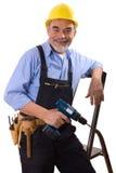 Happy repairman Stock Photo