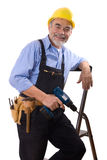 Happy repairman Royalty Free Stock Image