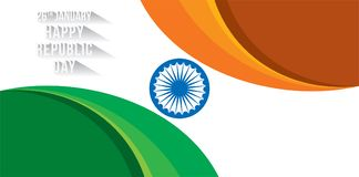 Happy republic day banner Royalty Free Stock Images
