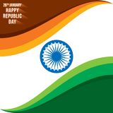 Happy republic day banner Stock Images