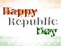 Happy Republic Day with blocks. Royalty Free Stock Image