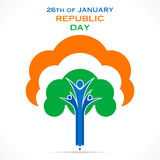 Happy republic day greeting design Stock Photos
