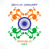 Happy republic day greeting design Royalty Free Stock Photo