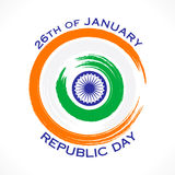 Happy republic day greeting design Royalty Free Stock Photos