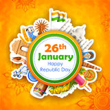 Happy Republic Day of India background Royalty Free Stock Image