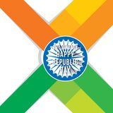 Happy republic day banner Stock Photography