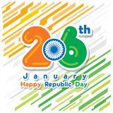 Happy republic day banner Stock Photo