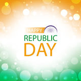 Happy republic day india greeting card Stock Images