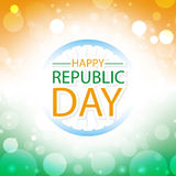 Happy republic day india greeting card Royalty Free Stock Image